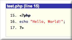 Code block filename screenshot