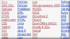 Syntax highlighting screenshot