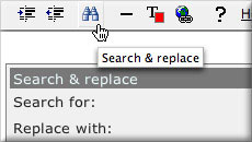 Search and Replace screenshot